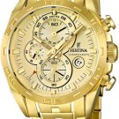 Festina  F16656/2 Men Watch Cheonograph Stainless Steel Dial Color Gold