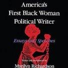 Blacks in the Diaspora: Maria W. Stewart, America's First Black Woman...