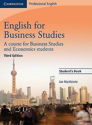 English for Business Studies Student's Book : A Course for Business Studies...