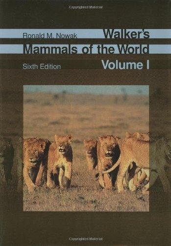 Walker's Mammals of the World 2-vol. set by Ronald M. Nowak (1999, Hardcover)