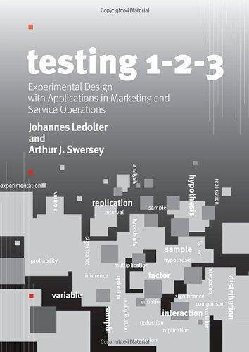 Testing 1-2-3 : Experimental Design with Applications in Marketing and...