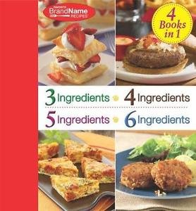 4 Books In 1 : 4,4,5,6 Ingredients (2010, Spiral)