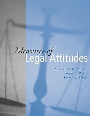 Measures of Legal Attitudes by Vanessa A. Edkins, Lawrence S. Wrightsman and...