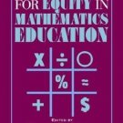 New Directions for Equity in Mathematics Education (1995, Hardcover)