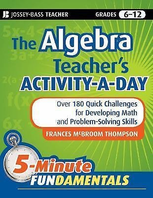 JB-Ed 5 Minute FUNdamentals: The Algebra Teacher's Activity-a-Day : Over 180...