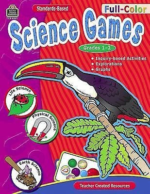 Full-Color Science Games, Grades 1-2 by Bridget Hoffman (2007, Paperback, New...