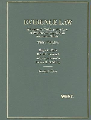 Hornbook: Evidence Law : A Student's Guide to the Law of Evidence As Applied...