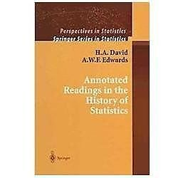 Annotated Readings in the History of Statistics by A. W. F. Edwards and H. A....