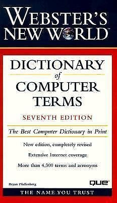 Webster's New World Dictionary of Computer Terms (1999, Hardcover)