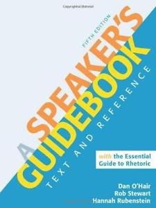 A Speaker's Guidebook with the Essential Guide to Rhetoric by Hannah...