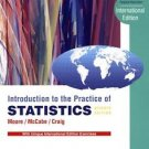 NEW Free Ship - Introduction to the Practice of Statistics by Moore, McCabe (7E)