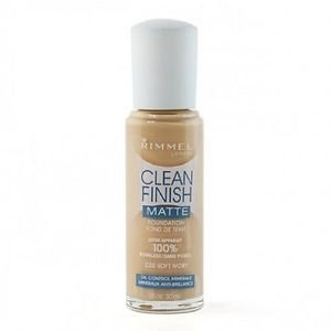 Rimmel Clean Finish Matte Foundation, 220 Soft Ivory