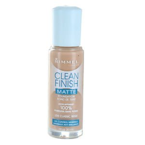 Rimmel Clean Finish Matte Foundation, 250 classic beige