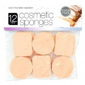 Cosmetic Sponges Set, 12 piece value pack