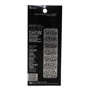 Maybelline Color Show Fashion Prints Nail Stickers #40 Urban Jungle