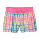 Baby Girl Jumping Beans Printed Shorts, Plaid Print, Multi Color, 12 Months
