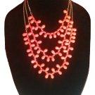 Ashley Cooper Orange Teardrop Necklace