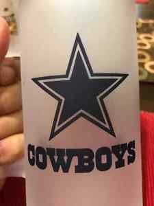 Custom Made Frosted Dallas Cowboys 16oz Beers Steins/Mug with your name.