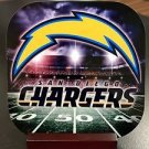 Custom Made Drink Coasters with Mahogany Stand San Diego Chargers 4Pack