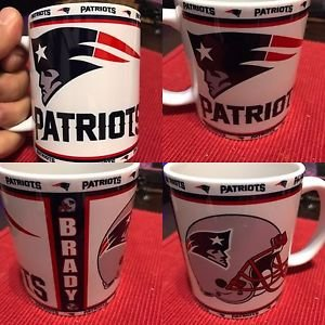Custom Made New England Patriots 11oz Coffee Cup with your name.