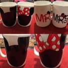 2 Custom Made Mickey & Minnie Mr. and Mrs.15oz Coffee Cups Set (PAIR)