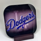 Custom Made Drink Coasters with Mahogany Stand Los Angeles Dodgers v2 4Pack