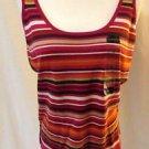 Liz Claiborne Tank Shirt Top Women's Size Large Striped & Paisley New