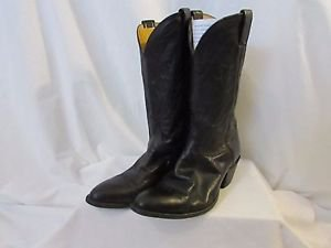 NOCONA Leather Cowboy Boots Men's 10 Made in USA Color Black