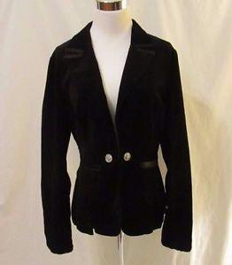 White House Black Market Velvet Jacket Blazer Women's Size 8 Black Great Details
