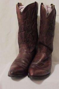 Leather Brown Cowboy Boots Men's 10EE Wrangler Western Vintage