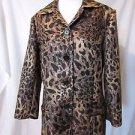Chico's Animal Print Women's Coat Jacket size 2 Short Coat