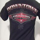 Harley Davidson T Shirt Men's Small  Short Sleeve DOWNTOWN Seattle Black