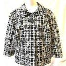 Semantiks Classic Jacket Coat Women's Size 2X Black & White Lined Jackie O Style