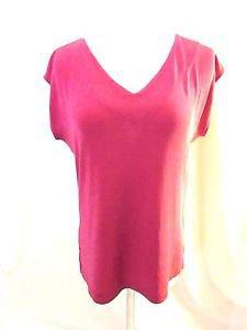 Chico's Traveler Pink Sleeveless Shirt Top Women's 1 (M) V Neckline Front & Back