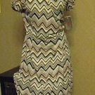 Wrap Dress Women's Size 6 Chevron  Cap Sleeves  NEW  Adrianna Papell