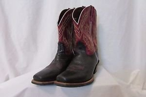 Ariats Men's 10.5 Adriano Moraes Bull Rider Western Boots PBR Tested NWOB