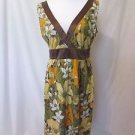 Tommy Bahama  Floral Sleeveless Dress Women's Size 8 lined  V-Neck V-Back