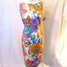 Talbots Petite Dress Women's 8 Floral Sleeveless Cutout Back Lined NWT Beautiful