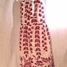 Charlotte Russe Sundress Women's Small Cotton White Red Floral Hawaiian