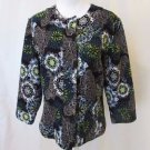 Chico's Women's Jacket Size 1(Medium) Multi Color Floral Beads Jackie O