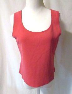 Talbots Petites Pink Sleeveless Top Shirt Tank Women's Large Scoop Neck