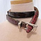 BRIGHTON Belt Leather Women's  #43700 Size M/30 Croc Embossed  Multi Color