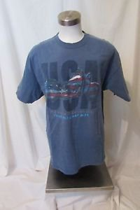 Harley Davidson T Shirt Men's XL Blue Short Sleeve Frieze O'Fallon