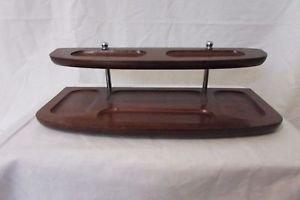Vintage Dresser Valet Tray Men�s 2 Tier Organizer Wood Divided Sections