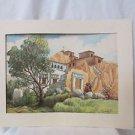 Watercolor Molino De Sabandia Arequipa Peru, Signed Cuetto B 1970
