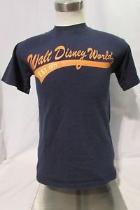 Disney World  T-Shirt Size Small Adult Short Sleeve Graphic Blue