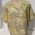 Beautiful Tommy Bahama Green Floral Silk Shirt Women's Small  Short Sleeve