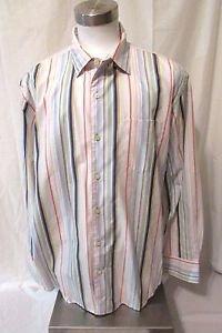 Tommy Bahama Men's Shirt XL/TG Dress Shirt Long Sleeve Muti Stripes