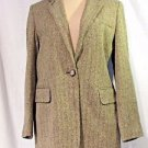 Lauren by Ralph Lauren Herringbone Tweed Jacket Women's Size 6P EQUESTRIAN