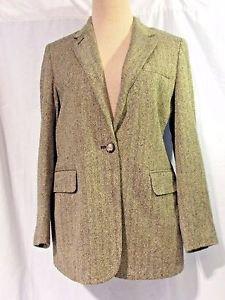 Lauren by Ralph Lauren Herringbone Tweed Jacket Women's Size 6P EQUESTRIAN
